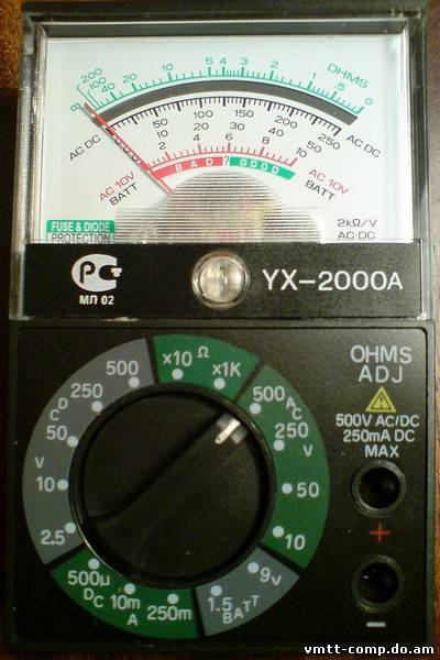 АВОметр) YX-2000A
